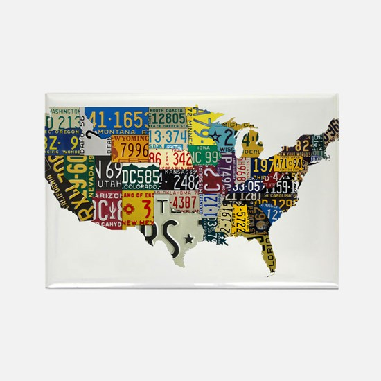 america license Rectangle Magnet