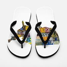 america license Flip Flops