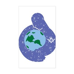 The Freemason embracing the earth Decal