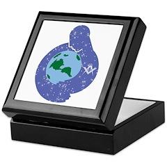 The Freemason embracing the earth Keepsake Box
