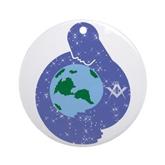 The Freemason embracing the earth Ornament (Round
