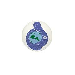 The Freemason embracing the earth Mini Button (10