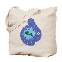 The Freemason embracing the earth Tote Bag