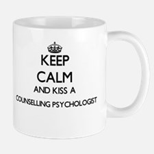 Keep calm and kiss a Counselling Psychologist Mugs