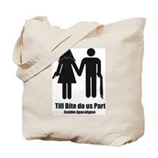 Zombie Wedding Tote Bag