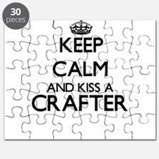 Keep calm and kiss a Crafter Puzzle