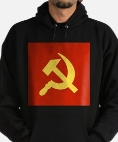 Red Hammer & Sickle Hoodie (dark)