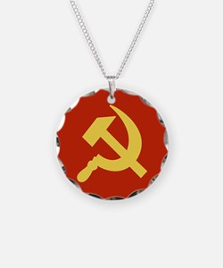 Red Hammer & Sickle Necklace