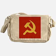 Red Hammer & Sickle Messenger Bag