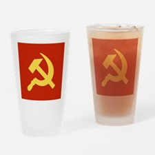 Red Hammer & Sickle Drinking Glass