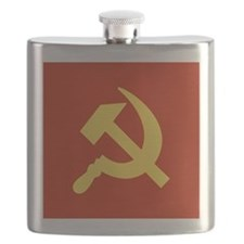 Red Hammer & Sickle Flask