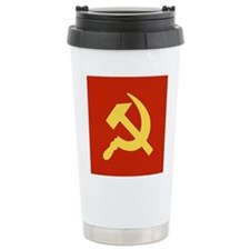 Red Hammer & Sickle Travel Mug