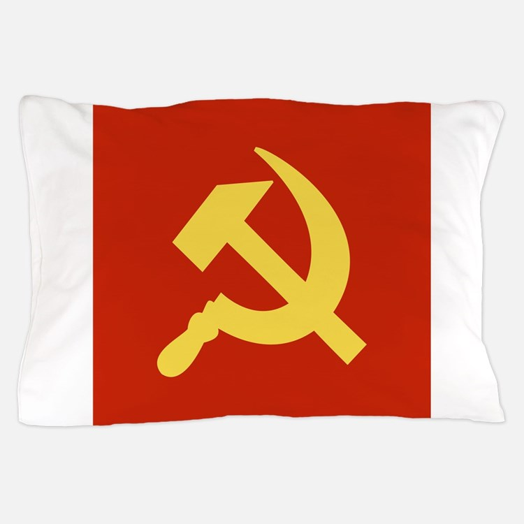 Red Hammer & Sickle Pillow Case