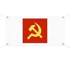 Red Hammer & Sickle Banner