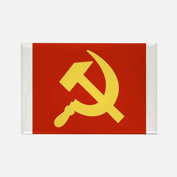 Red Hammer & Sickle Rectangle Magnet