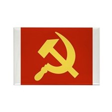Red Hammer & Sickle Rectangle Magnet (100 pack)