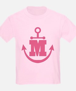 Cute Anchor Monogram M T-Shirt