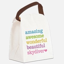 Awesome Skydiver Canvas Lunch Bag