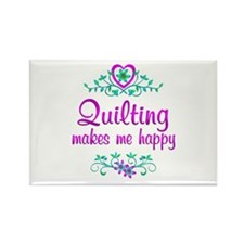 Quilting Happy Rectangle Magnet