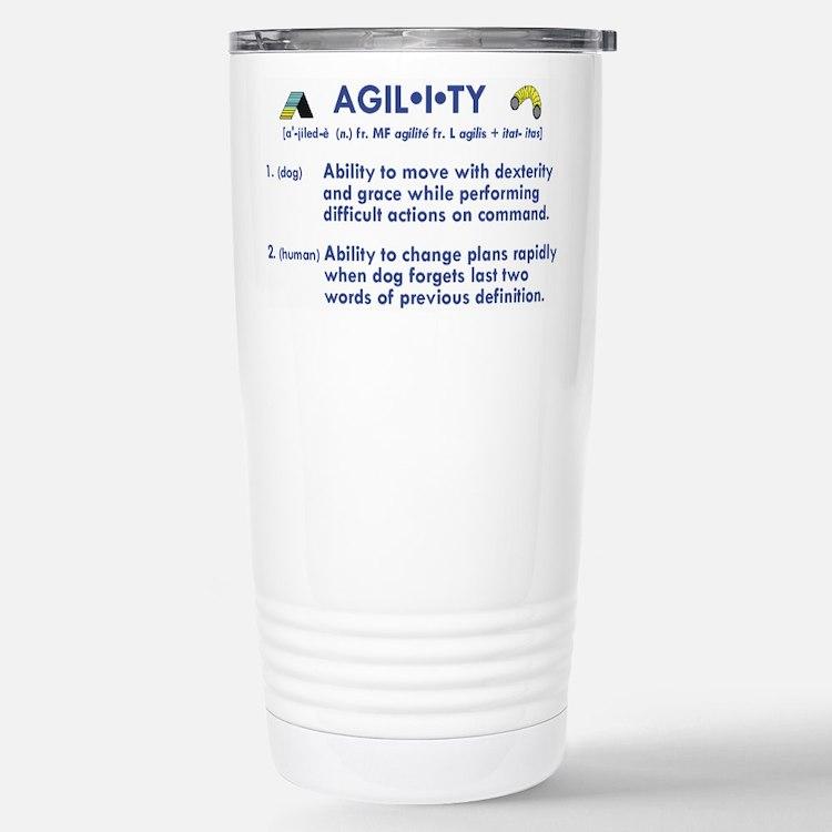 Cute Agility dog Travel Mug