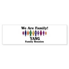 YANG reunion (we are family) Bumper Bumper Sticker