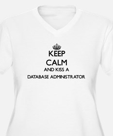 Keep calm and kiss a Database Ad Plus Size T-Shirt