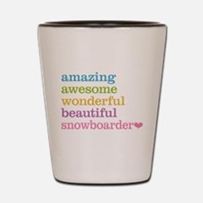 Snowboarder Shot Glass