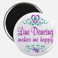 "Line Dancing Happy 2.25"" Magnet (10 pack)"