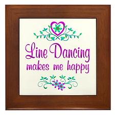 Line Dancing Happy Framed Tile
