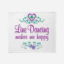 Line Dancing Happy Throw Blanket