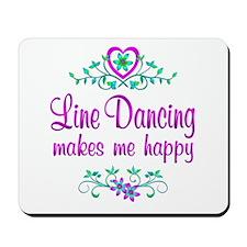 Line Dancing Happy Mousepad