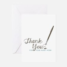 Thank You For Work Greeting Cards