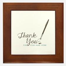 Thank You For Work Framed Tile