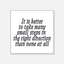"Right direction - Square Sticker 3"" x 3"""