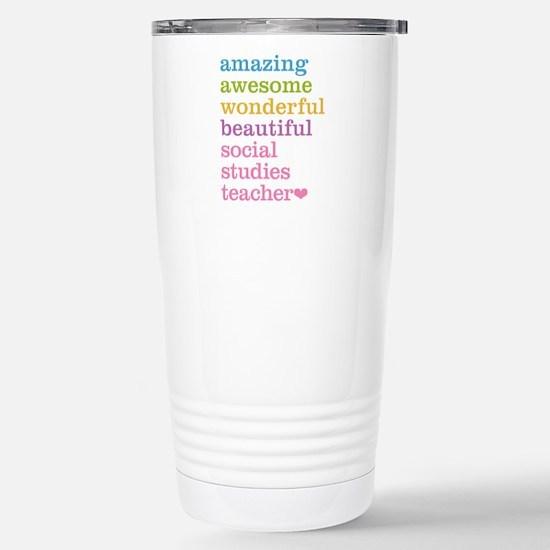 Social Studies Teacher Stainless Steel Travel Mug