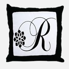 R letter Throw Pillow