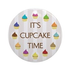 Cupcake Time Ornament (Round)