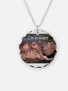 I'm so happy: hippo Necklace