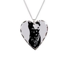 Cat Bandana Necklace Heart Charm