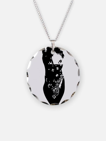 Cat Bandana Necklace Circle Charm
