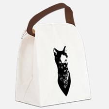 Cat Bandana Canvas Lunch Bag