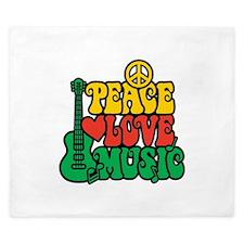 Reggae Peace Love Music King Duvet