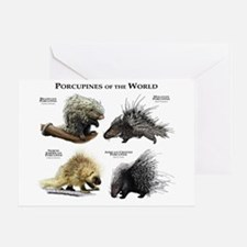 Porcupines of the World Greeting Card