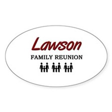 Lawson Family Reunion Oval Decal