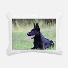 Cute Black german shepherd Rectangular Canvas Pillow