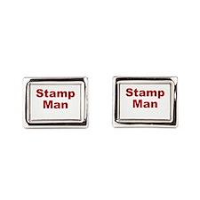 Stamp Man Rectangular Cufflinks