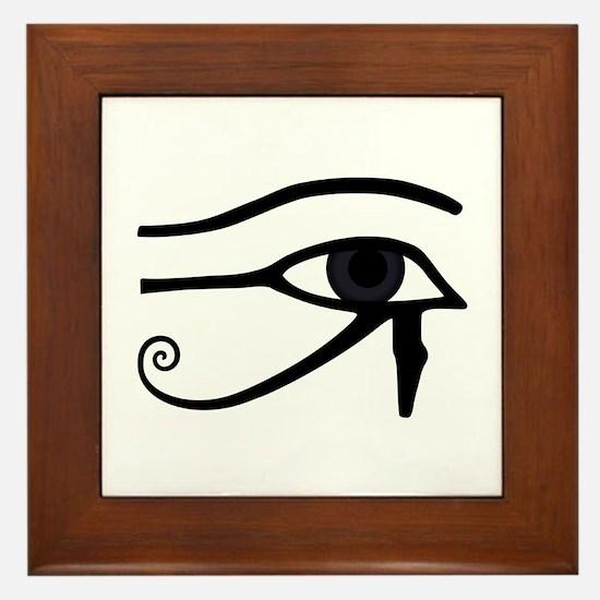 Right Eye Of Horus (Ra) Framed Tile