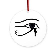Right Eye Of Horus (Ra) Ornament (Round)