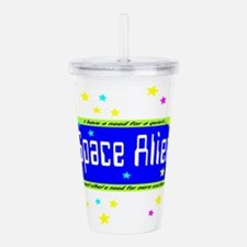 Space Alien Acrylic Double-wall Tumbler