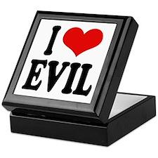 I Love Evil Keepsake Box